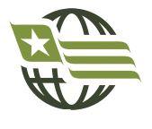 USA / Afghanistan Veteran Crossed Flag Lapel Pin