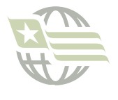 USA / Korea Crossed Flag Lapel Pin